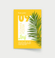 poster with exotic tropical palm leaf summer sale vector image vector image