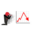 Red Bear prays for fall in rate of exchange Red vector image vector image