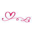 red valentines day hand drawn calligraphic vector image vector image