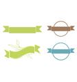 Ribbon Copyspace Design Set vector image vector image