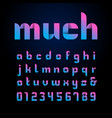 ribbon font alphabet with latin letters and vector image