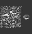 seafood and fish design template hand drawn on vector image vector image