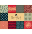 Seamless Geometric Halftone Retro Patterns