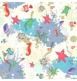 Seamless pattern with sea inhabitants vector image vector image