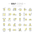 Set Flat Line Icons Golf vector image vector image
