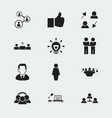 set of 12 editable job icons includes symbols vector image vector image