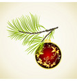 set of christmas and new year decoration ornaments vector image