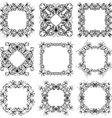 set of vintage frames of flowers and butterflies vector image vector image