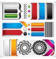Set of web design elements vector image vector image