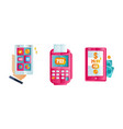 set online payment methods mobile payments vector image vector image