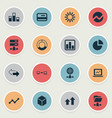 set simple data icons vector image