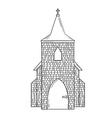 sketch of the church vector image vector image