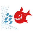 small fishes in a deadlock vector image vector image