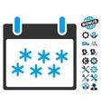 Snow Calendar Day Icon With Bonus vector image vector image