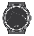 The watch dial with the zodiac sign Aries vector image vector image