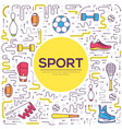 thin line sport tools modern concept vector image