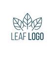 three leaves logo icon design landscape design vector image vector image