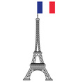 Tower with flag vector image vector image