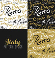 Travel italy city seamless pattern gold milan vector image vector image