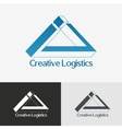 Triangle impossible logo design template vector image