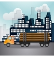 Truck icon design vector image vector image