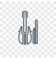 violin concept linear icon isolated on vector image