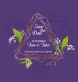 wedding invitation floral template geometric vector image vector image