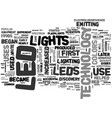 where did led technology come from text word vector image vector image