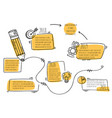 white and yellow infographic design vector image vector image