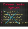 Wrong Customer Approach vector image vector image