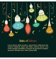 different types of bulbs vector image