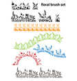 floral brush set vector image