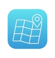 Map with pointer line icon vector image
