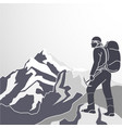 mountaineering icon vector image