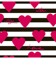 Seamless geometric pattern with hearts texture vector image