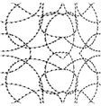 seamless barbwire vector image