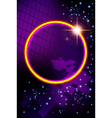 Abstract virtual space with screen background vector image