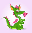 cute small cartoon dragon vector image