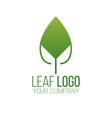 abstract green leaf logo icon design landscape vector image vector image