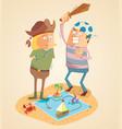 adventure of treasure hunters vector image