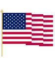 american flag waving usa flag with sharp corners vector image vector image