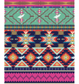 Aztecs seamless pattern with birds vector image
