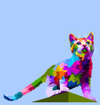 beautiful cute cat standing on top vector image