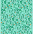 branches leaves and berries on turquoise vector image vector image