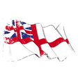 British Navy Flag 1606 1801 The Kings Colours vector image vector image