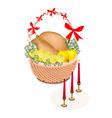 Brown Basket of A Delicious Roast Turkey vector image vector image