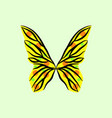 butterfly wing vector image