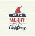 christmas text quote vintage card vector image vector image