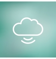 Cloud computing thin line icon vector image vector image