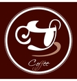 coffee cup icon in a circle vector image vector image